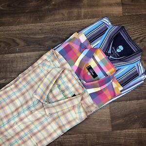 Mens Plaid//Stripe Long Sleeve Shirts