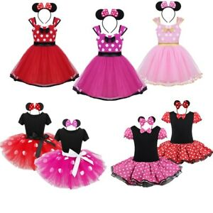 a45b53d0d75a Kids Girls Halloween Party Costume Toddler Polka Dots Bowknot ...