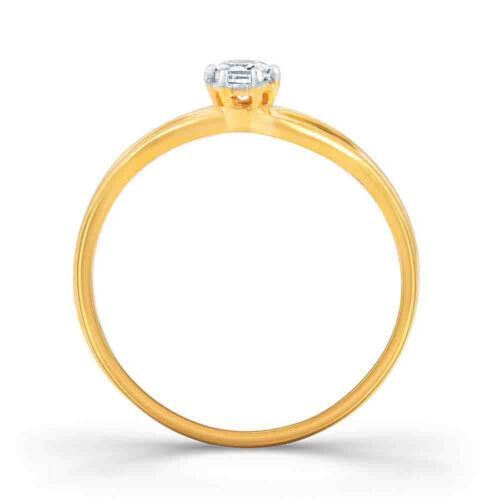 Details about  /Round D//VVS1 Solitaire Wedding Ring 14K Yellow Gold Over 925 Sterling Silver