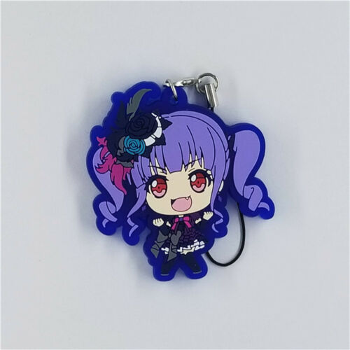 rubber Keychain Key Ring Straps Rare cosplay T1402 Anime BanG Dream