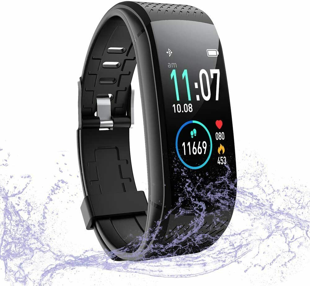Fitness Tracker w/ Heart Rate Monitor, Activity Tracker Waterproof Pedometer activity Featured fitness heart pedometer rate tracker waterproof