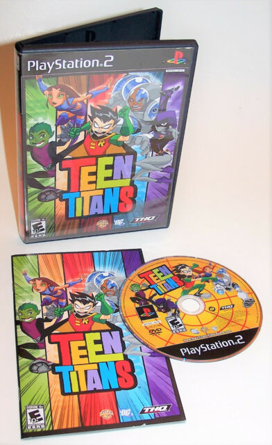 Teen Titans Sony Playstation 2 Video Game Complete with Instructions - PS2 -
