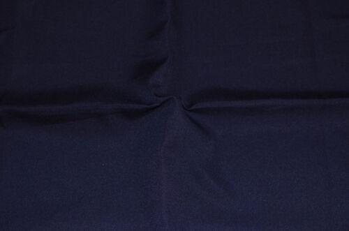 44 inches wide Navy Blue Colour PLAIN POLY COTTON FABRIC 112 cm