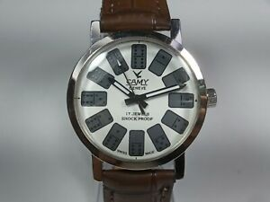 Vintage-Camy-Mechanical-Hand-Winding-Movement-Mens-Analog-Wrist-Watch-C24