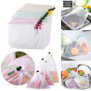 Wiederverwendbare Obstbeutel Gemüsebeutel Einkaufstasche Gemüsenetz Lagerung
