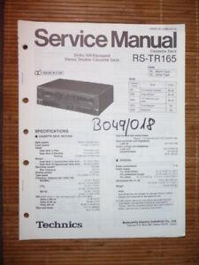 Anleitungen & Schaltbilder Service Manual Technics Rs-tr165 Tape Deck,original