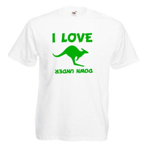 Love Kangaroo/'s Australia Children/'s Kids Childs T Shirt