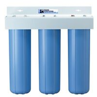 Triple Big Blue 20 Scale Preventive Water Filters System 1
