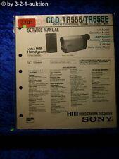 Sony Service Manual CCD TR555 /TR555E Video Camera Recorder (#3701)