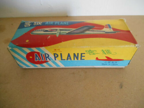 MF107  TIN TOY AIRPLANE JOUET TOLE VINTAGE  60//70 air PLANE AVION