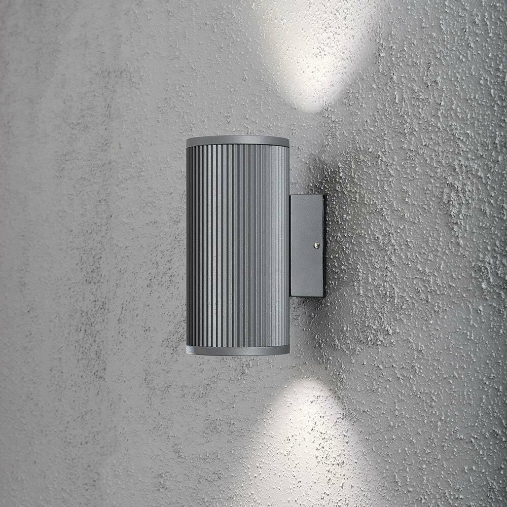 Konstsmide 7514-300 Siracusa luz de la parojo exterior con Bombilla Halógena gris