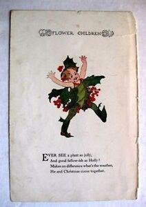 1920s Flower Children Christmas Theme Holly Poinsettia Flower People