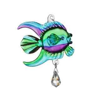Fantasy-Glass-Sun-Catcher-Marine-Fish-With-A-Simulated-Crystal-Peacock