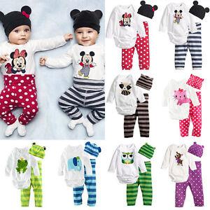 3PCS-Set-Newborn-Infant-Baby-Girls-Boys-Romper-Tops-Pants-Hat-Outfits-Clothes