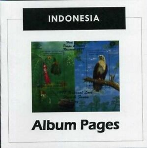 Indonesia - CD-Rom Stamp Album 1950-2016 Color Illustrated Album Pages
