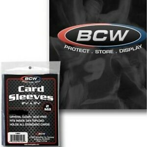 BCW-Standard-Card-Penny-2mil-Sleeves-Trading-Gaming-Baseball-Football-Basketball