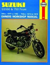 HAYNES SERVICE REPAIR MANUAL SUZUKI GS550 1976-1979, E 1977-1980 & L 1979-1982