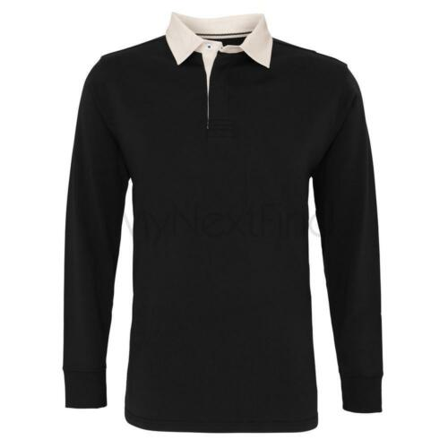 Asquith /& Fox Mens Classic Fit Long Sleeve Vintage Rugby Shirt