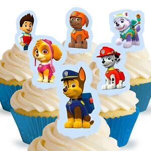 Cakeshop 12 X Essbare Aufrecht Stehende Paw Patrol Kuchen Dekoration
