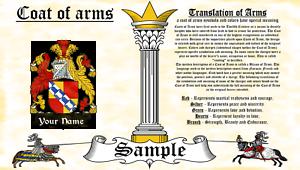 Sacheville-Sakvile COAT OF ARMS HERALDRY BLAZONRY PRINT