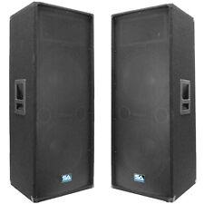 """Seismic Audio New Dual 15"""" PA DJ CLUB Speaker Cabinet Pro DJ Speakers"""