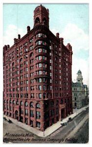 Early-1900s-Metropolitan-Life-Insurance-Co-Building-Minneapolis-MN-Postcard