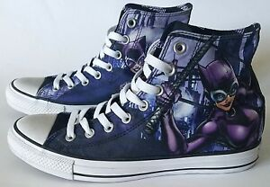21ae60e6c2c3 Image is loading Chuck-Taylor-All-Star-Converse-DC-Comics-Catwoman-