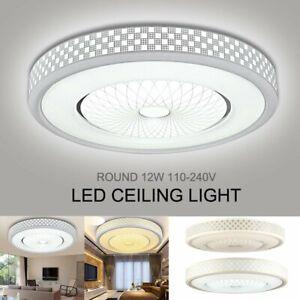 Details About 12w 1200lm Led Bathroom Ceiling Light Modern Flush Mounted Fixture Lamp Lighting