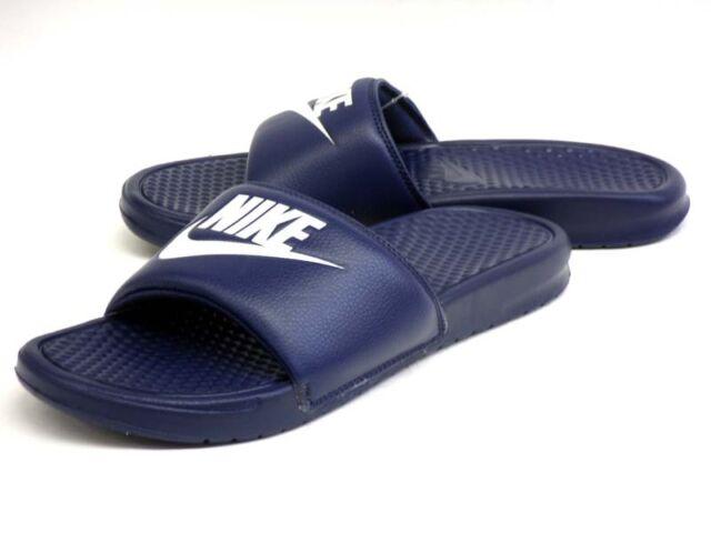 3ed87e16159f25 ... Midnight Navy White Men Sandal Slides Slippers 343880-403 5. About this  product. 25 sold. NIKE BENASSI JDI (FLIP FLOP   SANDAL)  343880 403   NEW