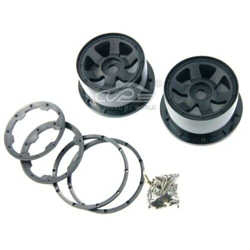 Front Wheel Hub Set with Screw Set for 1//5 Rovan KM HPI Baja 5b SS