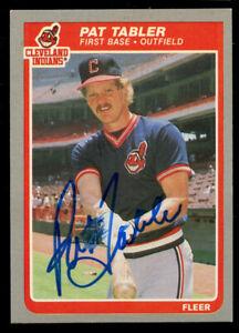Pat Tabler #456 signed autograph auto 1985 Fleer Baseball Trading Card
