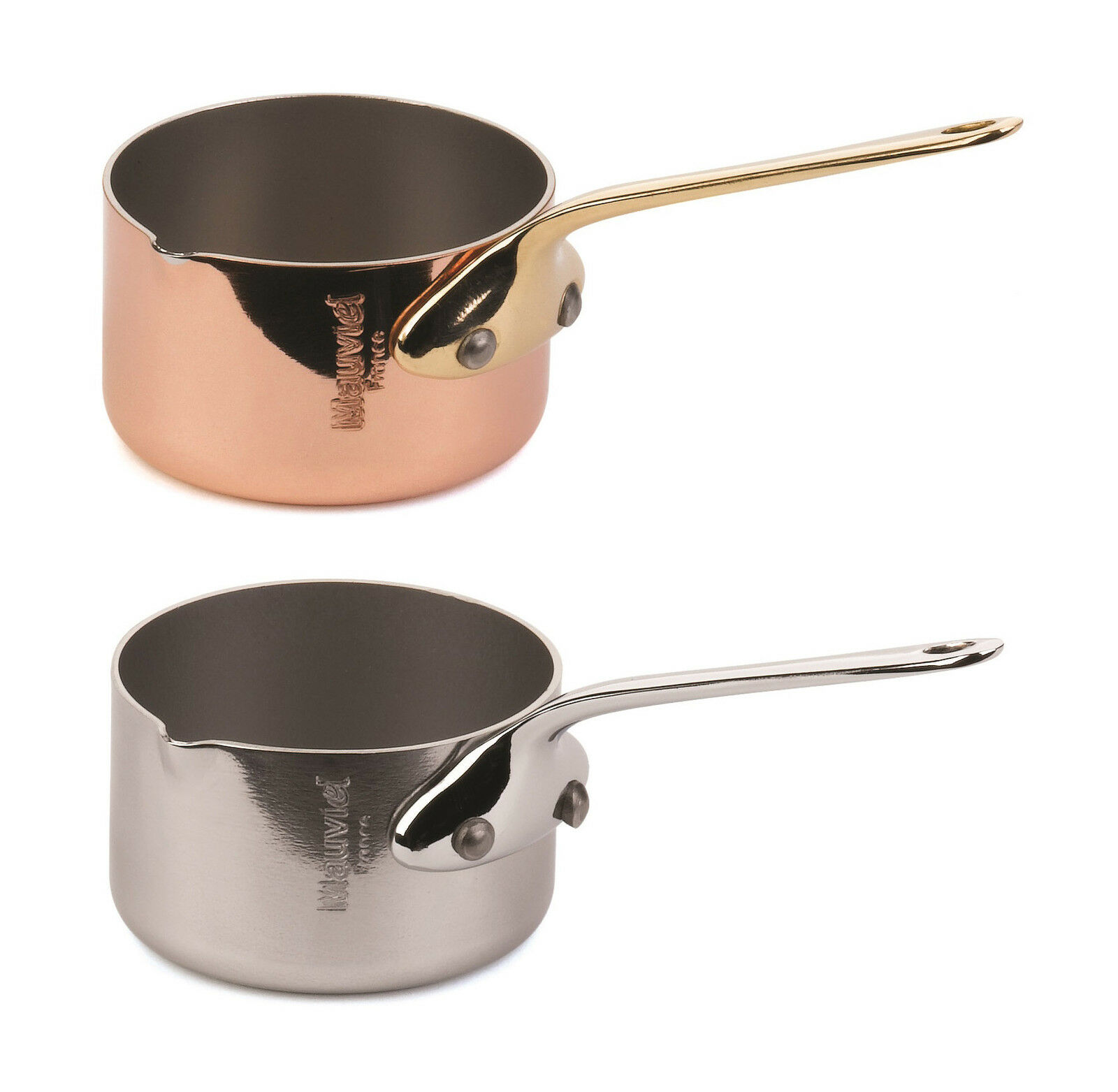 Mauviel Minis Copper Stainless Steel Handle Saucepan 5cm with Pouring Lip