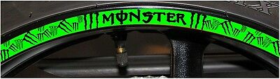 Custom Printed Rim Stripes Wheel Tape With MONSTER *Cool New Design   A3