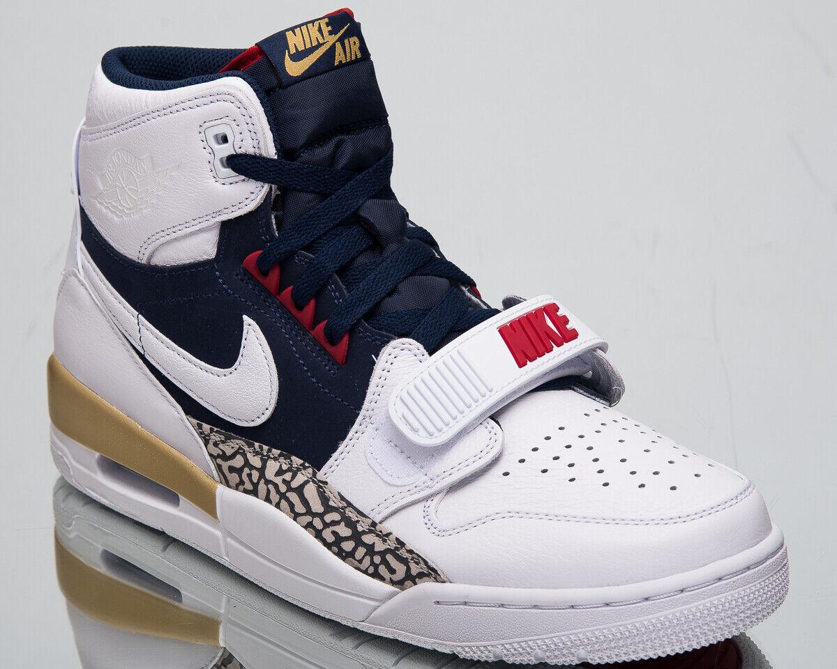 Air Jordan Legacy 312  USA  Men's New White Navy Lifestyle Sneakers AV3922-101