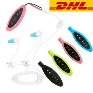 Sport-Wasserdicht-4GB-Schwimmen-Clip-MP3-Player-FM-Musik-mit-In-Ear-Kopfhoerer-DE
