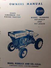 Sears Suburban 725 David Bradley Riding Tractor Owner Amp Parts Manual 91760630