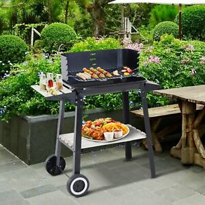 Outdoor BBQ Grill Charcoal Barbecue Pit Patio Backyard Meat Cooker Smoker NEW