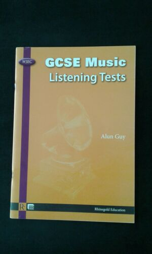 1 of 1 - WJEC GCSE Music Listening Tests by Alun Guy. *Unused*
