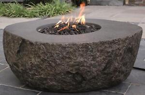 Elementi Gas Feuerstelle Vesuv In Basaltoptik Aus Faserbeton Ebay
