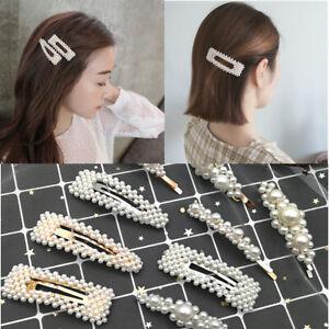 Pince-A-Cheveux-Perle-Barrette-Baton-epingle-Femme-Fille-Bijoux-Accessoire-Mode