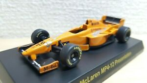 1-64-Kyosho-F1-MCLAREN-MP4-12-PRESENTATION-10-COULTHARD-diecast-car-model