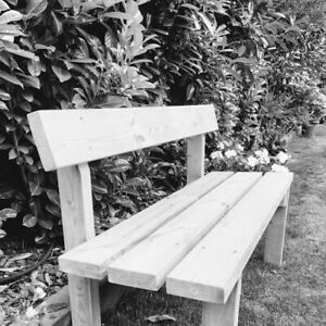 Phenomenal Details About Garden Wooden Bench Treated Wood And Very Comfortable Camellatalisay Diy Chair Ideas Camellatalisaycom