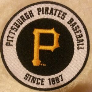 Pittsburgh-Pirates-3-5-034-Iron-Sew-On-Embroidered-Patch-FREE-Ship-US-Seller