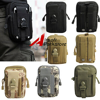 Tactical Molle Waist Pack Fanny Phone Pouch Belt Bag Camping Hiking Bag Colorful