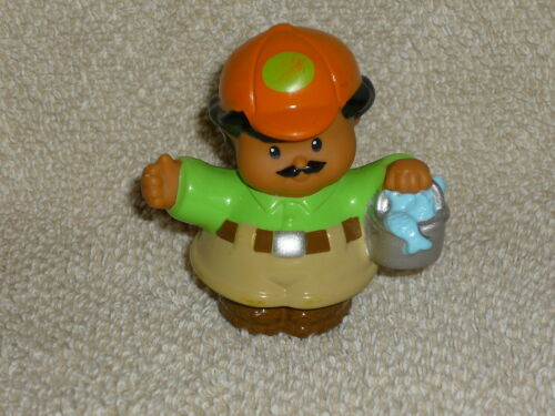 Fisher Price Little People Zoo Keeper with Fish Bucket Rare
