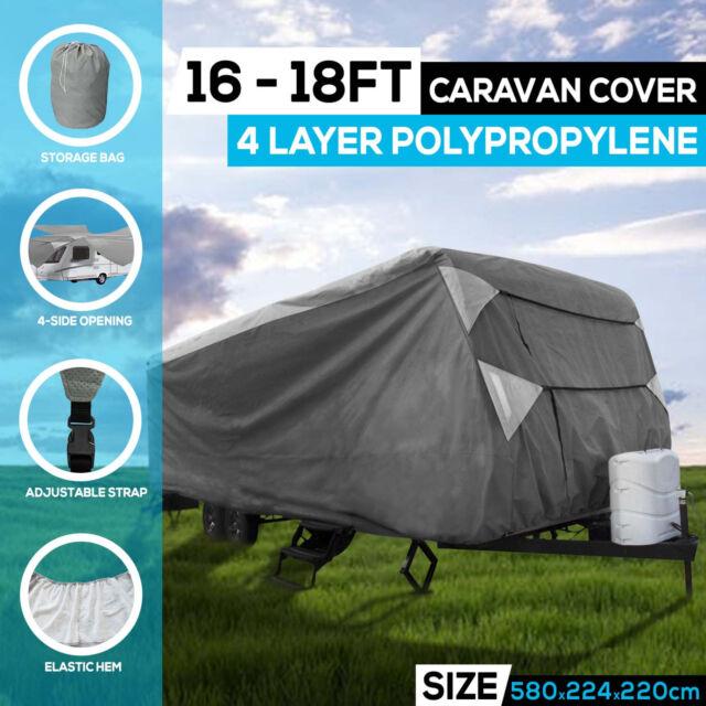 Heavy Duty 16-18ft 4 Layer  Caravan Campervan Cover  UV Waterproof Carry bag
