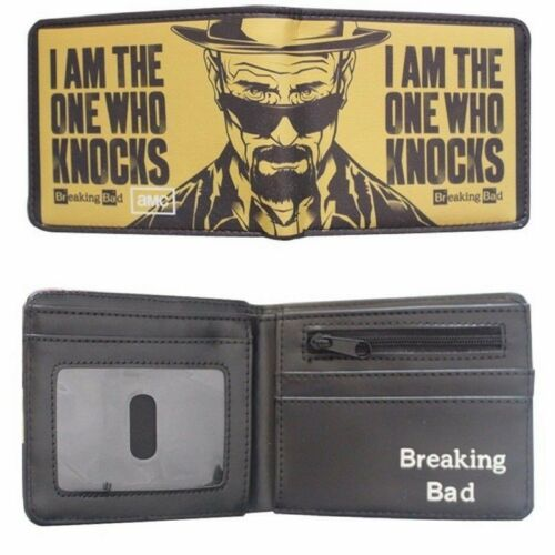 Breaking Bad Heisenberg I am the one who Knocks Bifold Wallet Coins Cards Notes