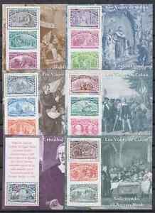 SPAIN-1992-6-MNH-COLUMBUS-MINISHEETS-Sc-2677-82-EDIFIL-3204-09-COLON