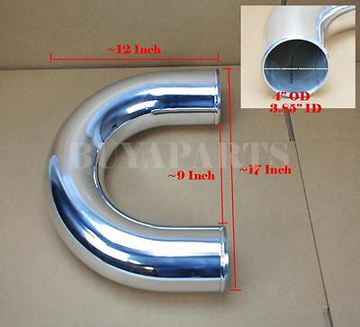 "4/"" Inches OD U-Bend Aluminum Turbo Intercooler Piping Tube Polished"
