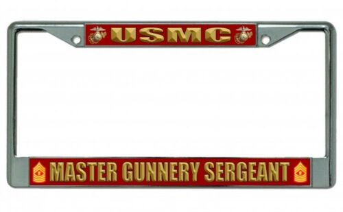 USMC Master Gunnery Sergeant Photo License Plate Frame